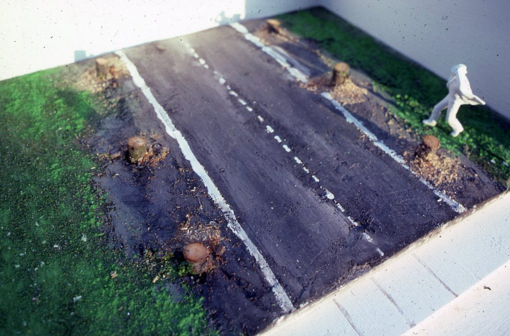Piece of a road.
