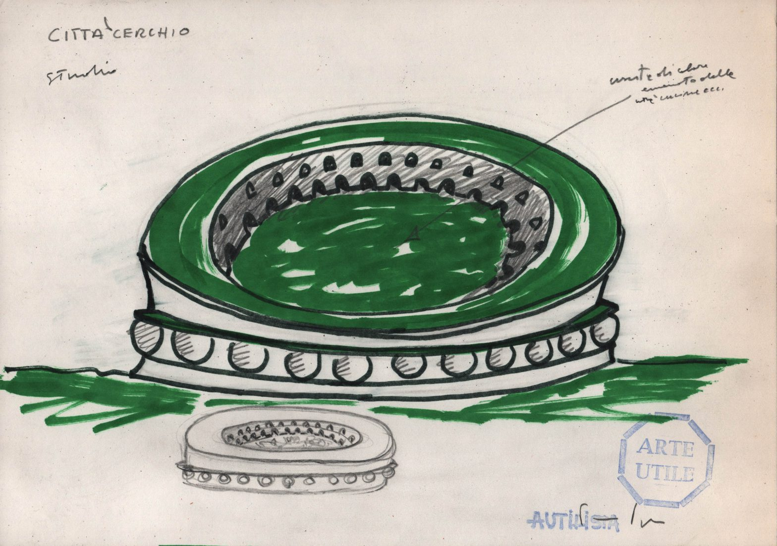 Circular ring building.