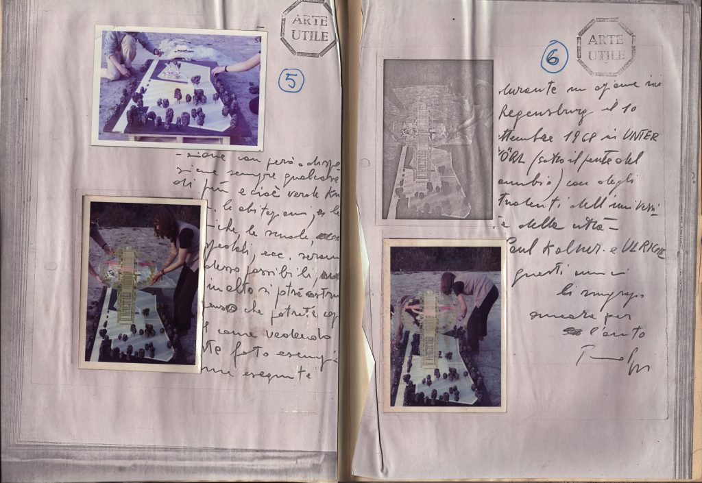 Pages showing Photos and handwritten text.