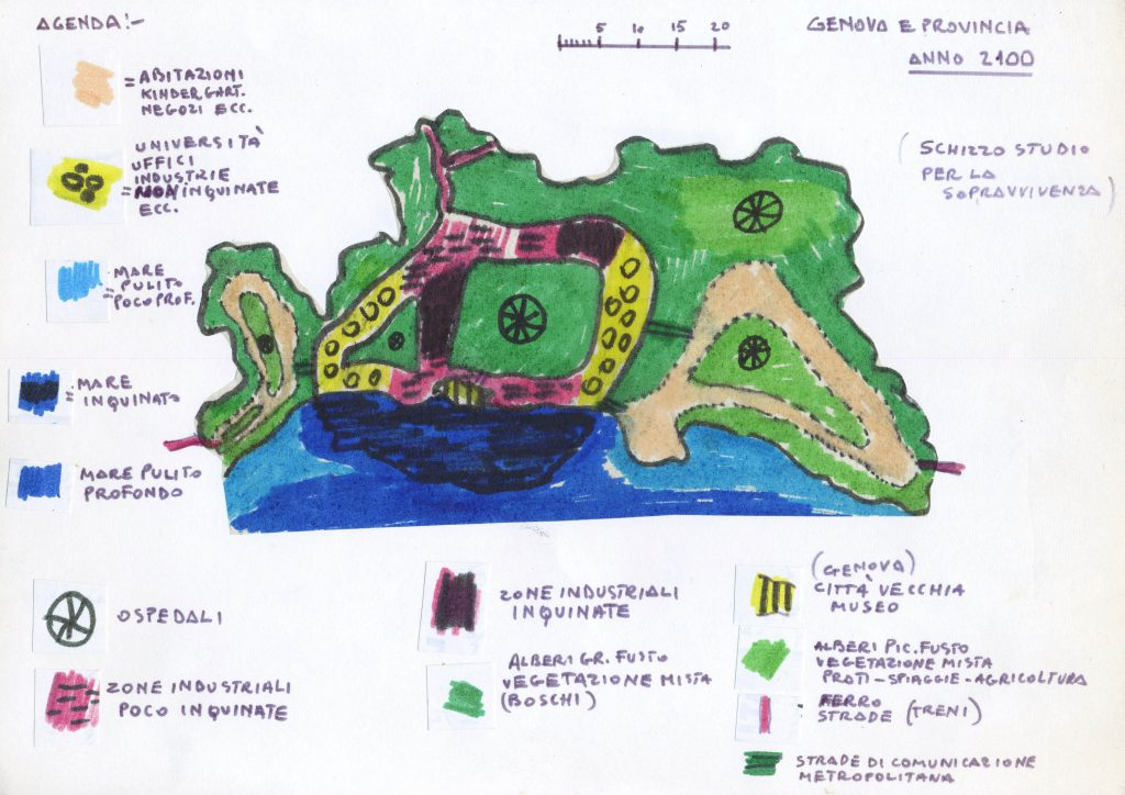 Terrain map with legend