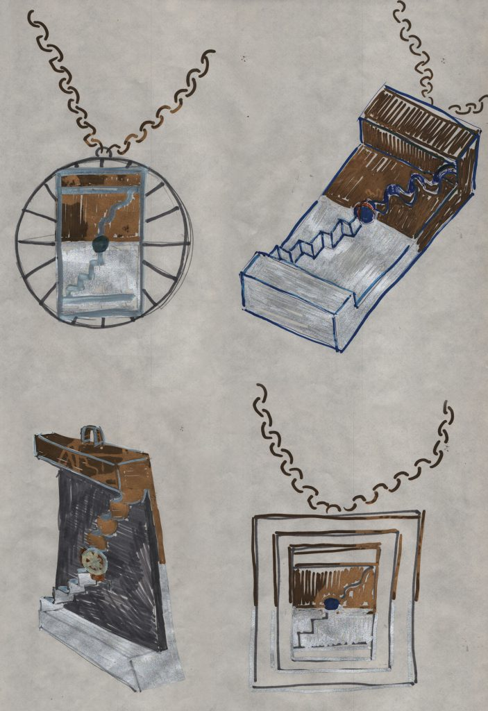 Pendants in various forms.