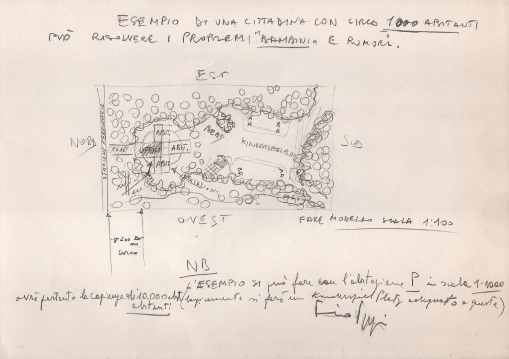 Schematic site plan