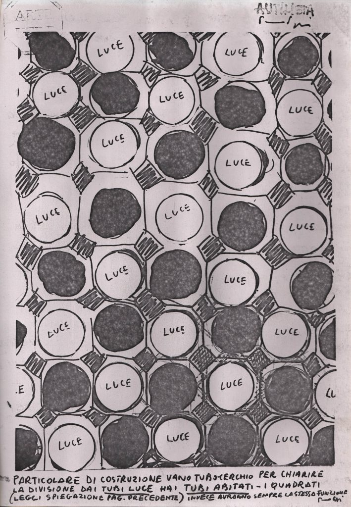 Sketch of circles. Some black some with the word light.