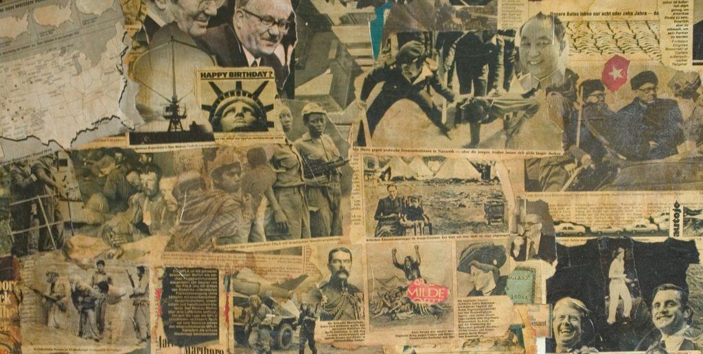 Newspaper collage