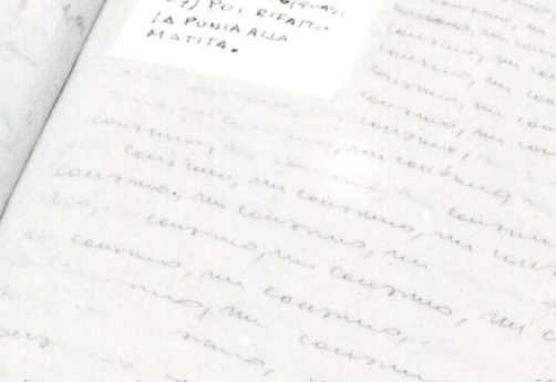 Page with handwritten text.