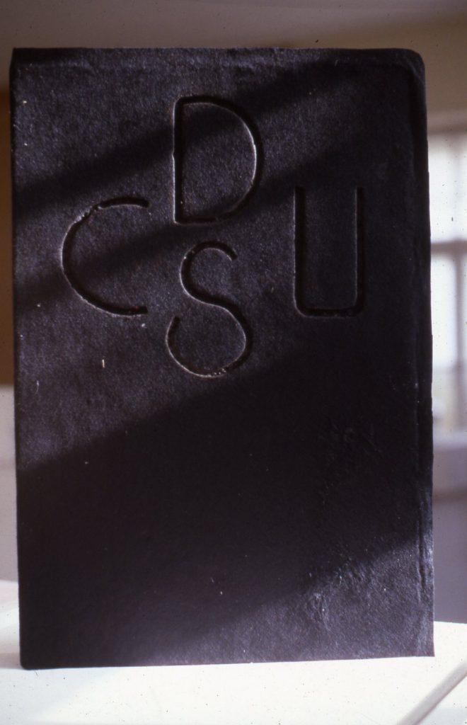 """Black book cover with the initials """"CDU/CSU""""."""