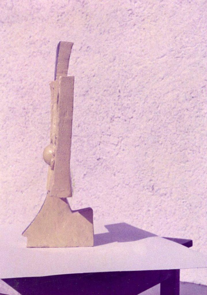 Whole sculpture has little depth.