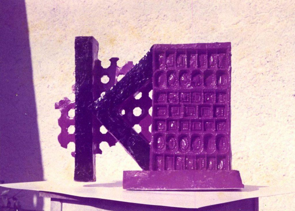 Sculpture model – letter K docks to set up cuboid.