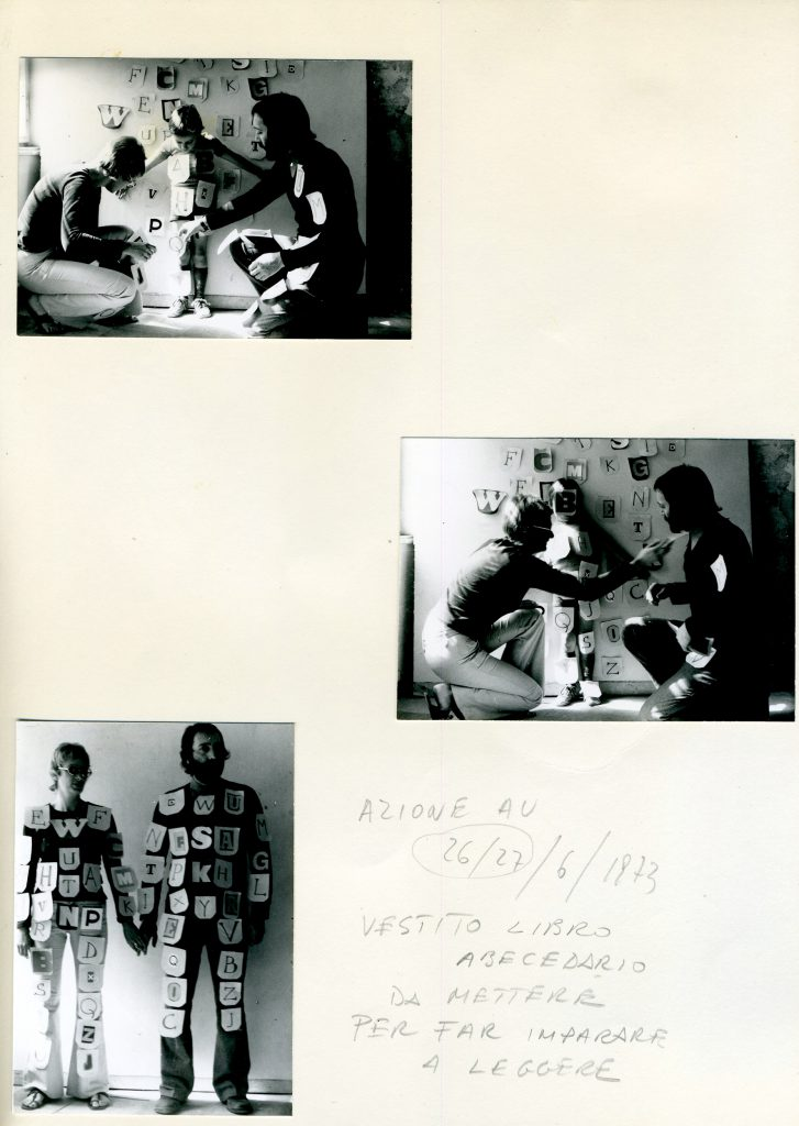 Sheet with Photos and handwritten text.