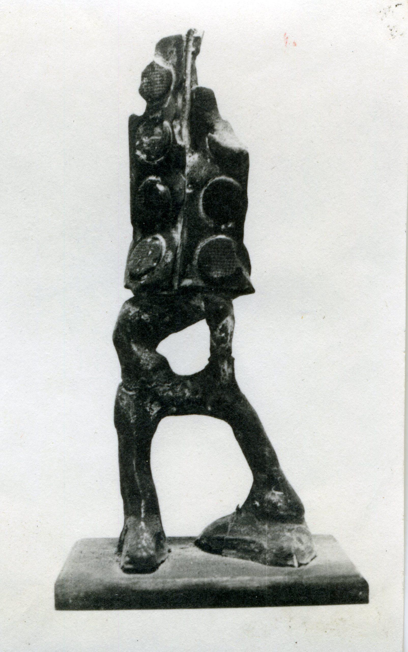 Sculpture resembles figure.